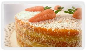 Tarta de zanahoria con cobertura de queso
