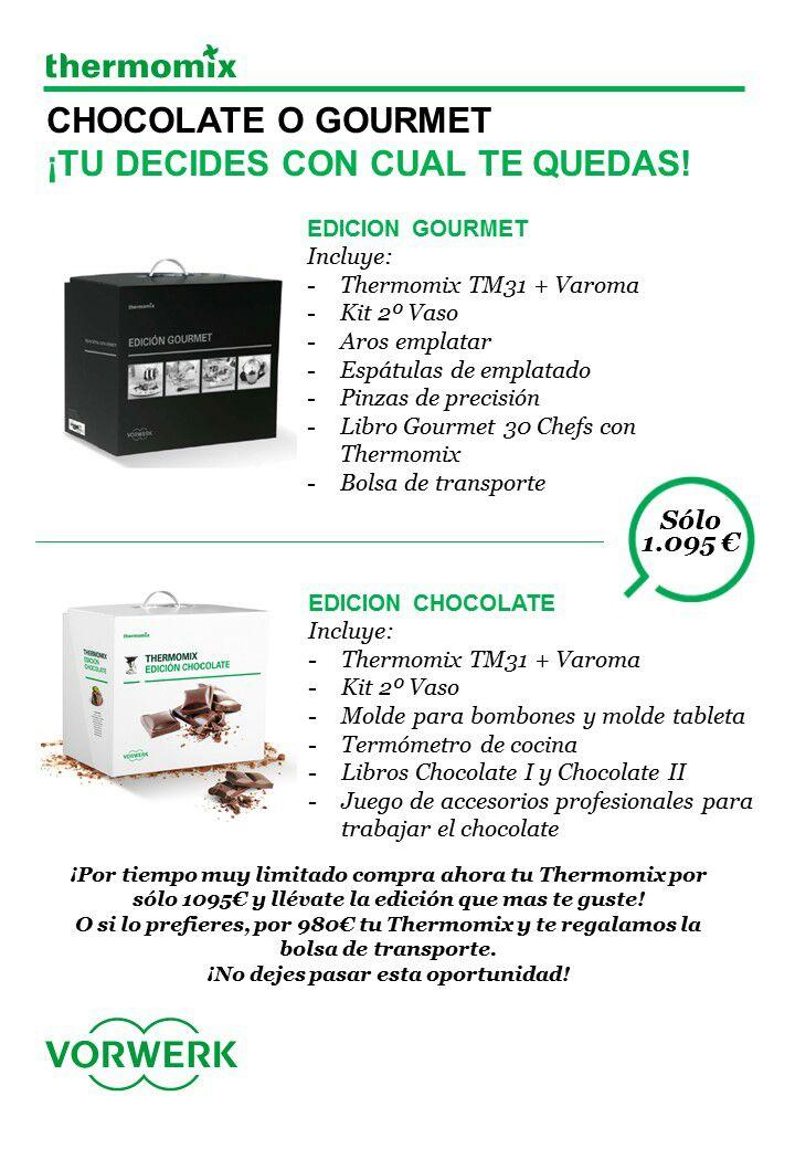 SUPER PROMOOOOO!! Edición Chocolate o Gourmet.... ¡Tu Eliges Con Cual Te Quedas!