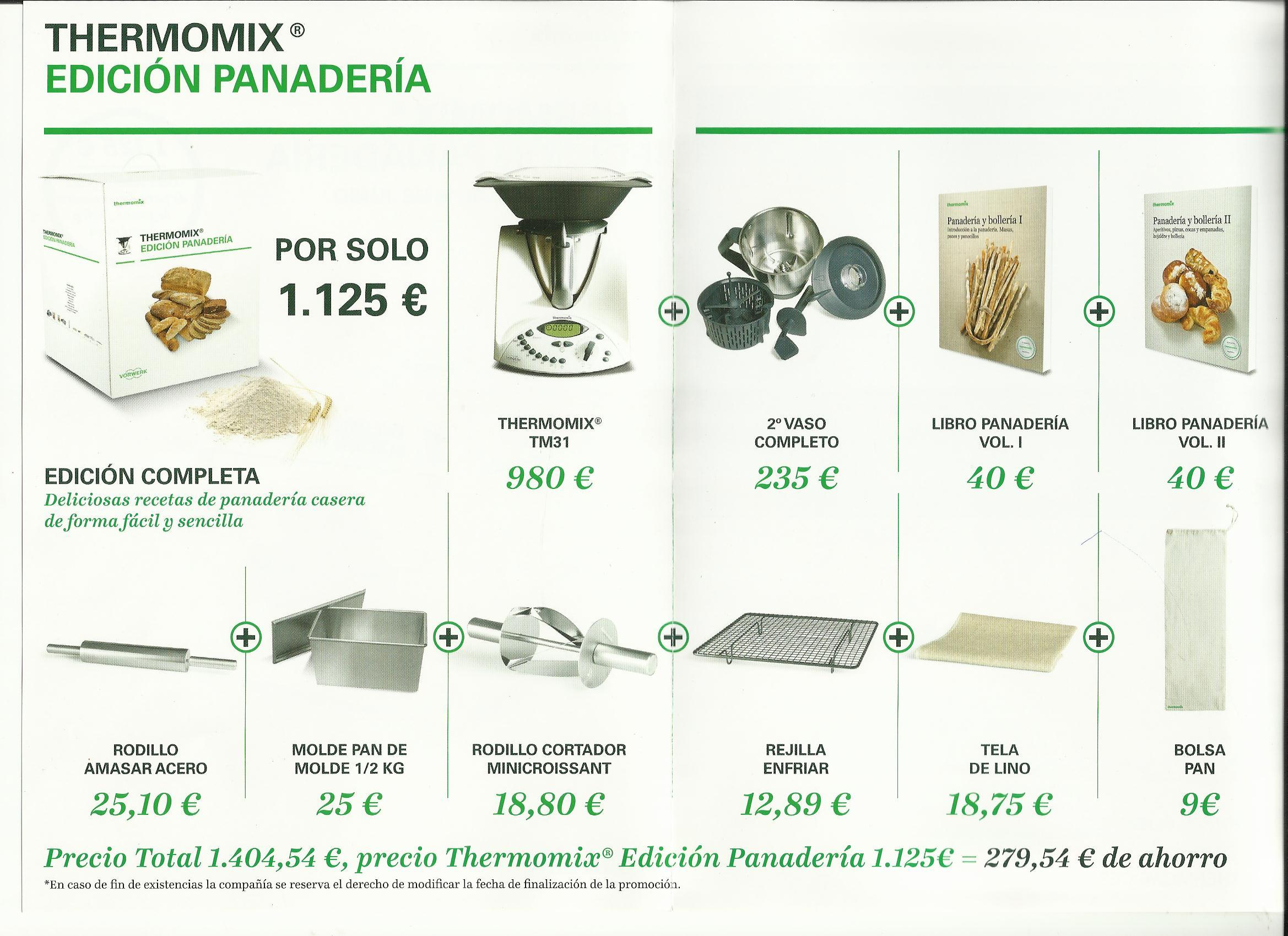 Thermomix® EDICION PANADERIA