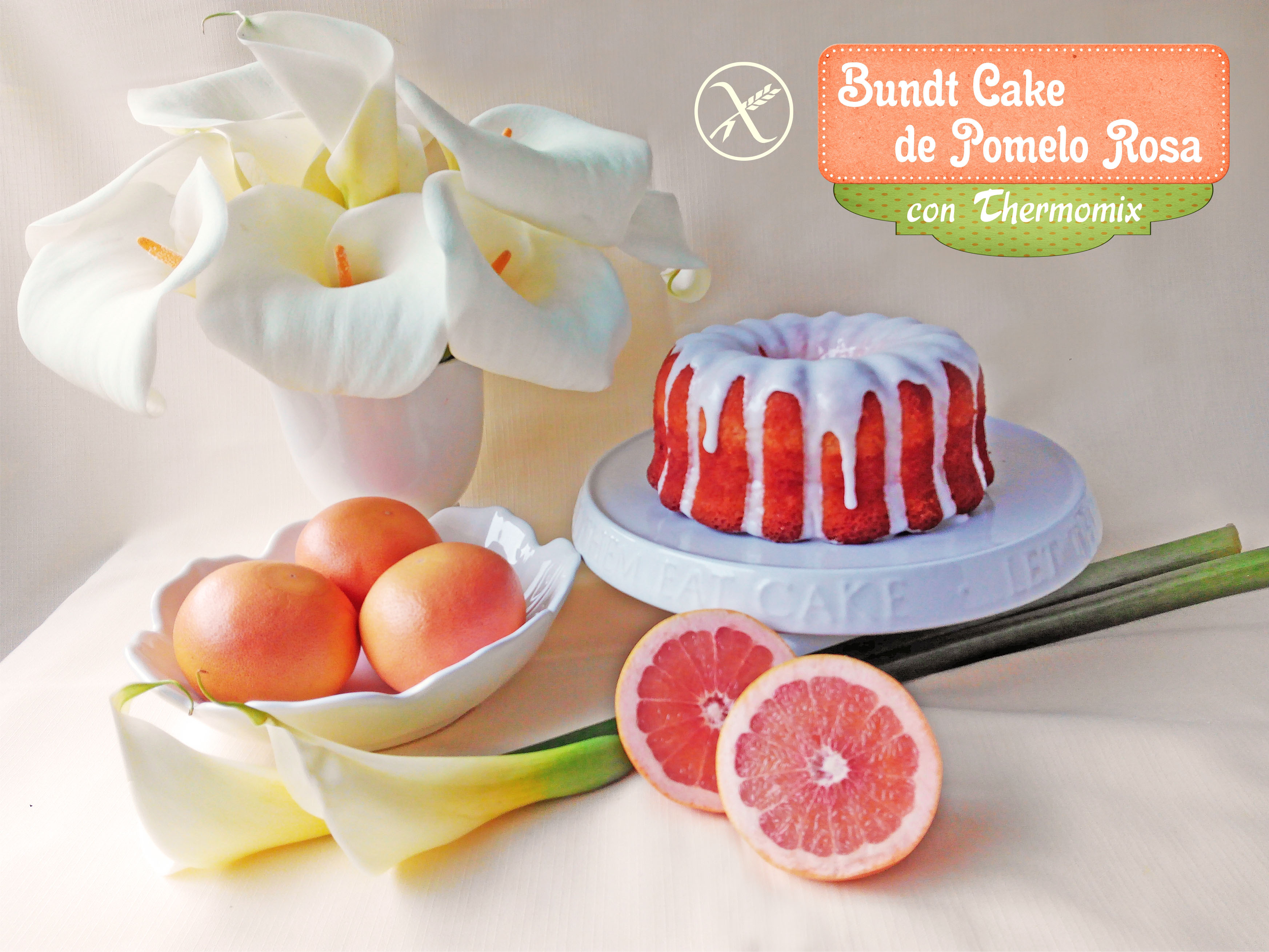 Bundt Cake de Pomelo Rosa. También versión Sin Gluten.