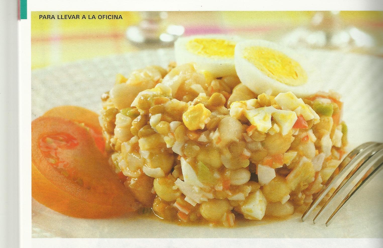 Salpicon de legumbres con palitos de cangrejo