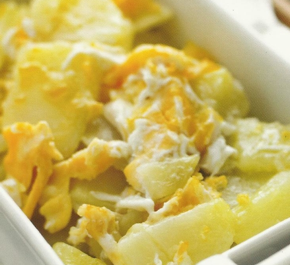 Patatas con huevos rotos