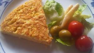 Pequeños restos.... Grandes platos. Hoy tortilla de pescado!!!