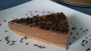 Tarta de chocolate y cuajada